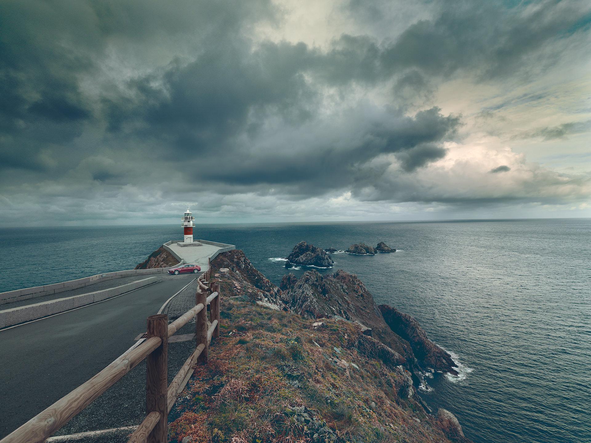 ©ankeluckmann1724, coast, galicia, green, landscape, rocks, spain, anke luckmann, www.ankeluckmann.com, sea, jaguar, lighthouse
