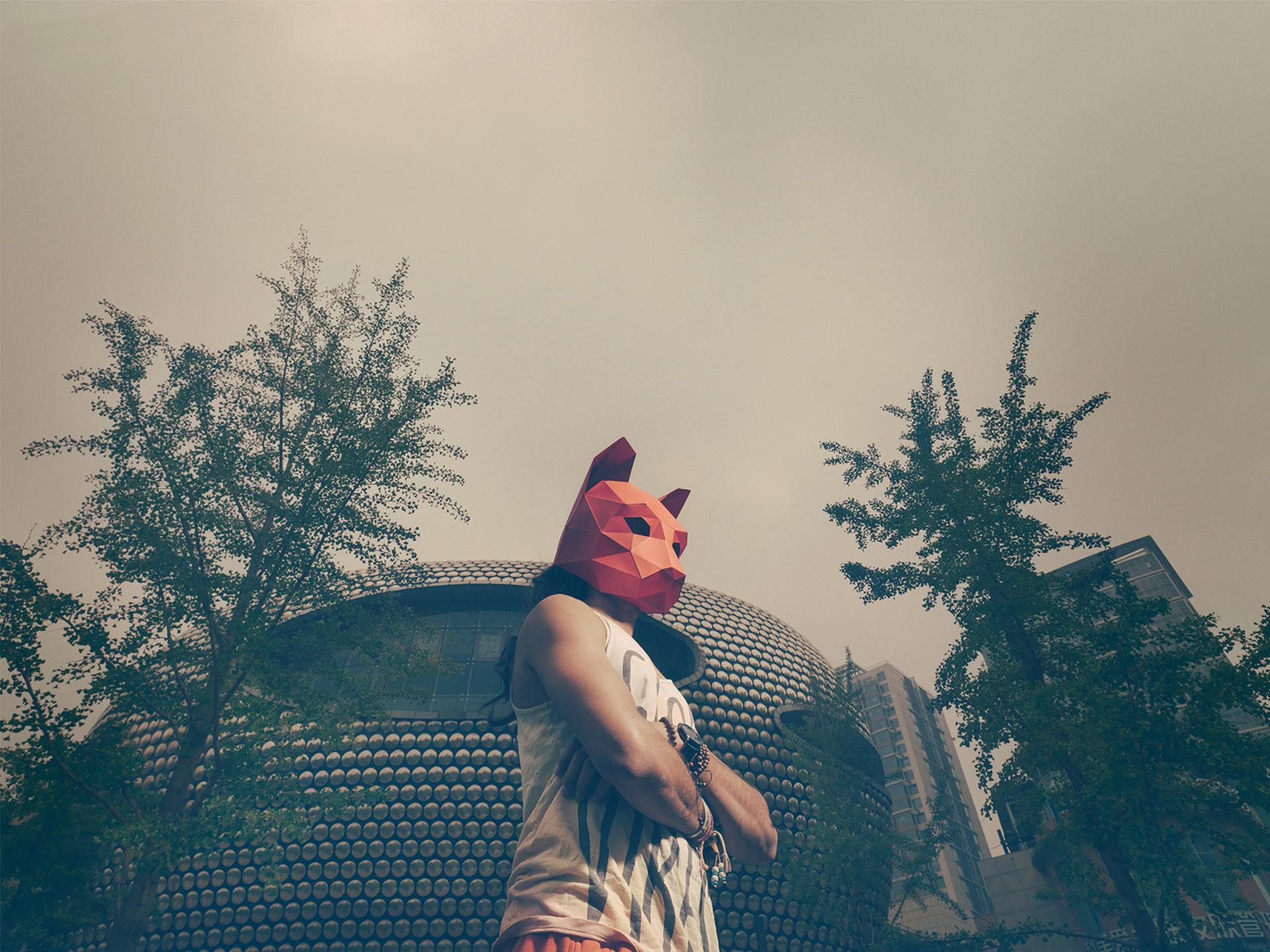 2016, china, beijing, personal work, mask, model: , sonny, mask: wintercroft