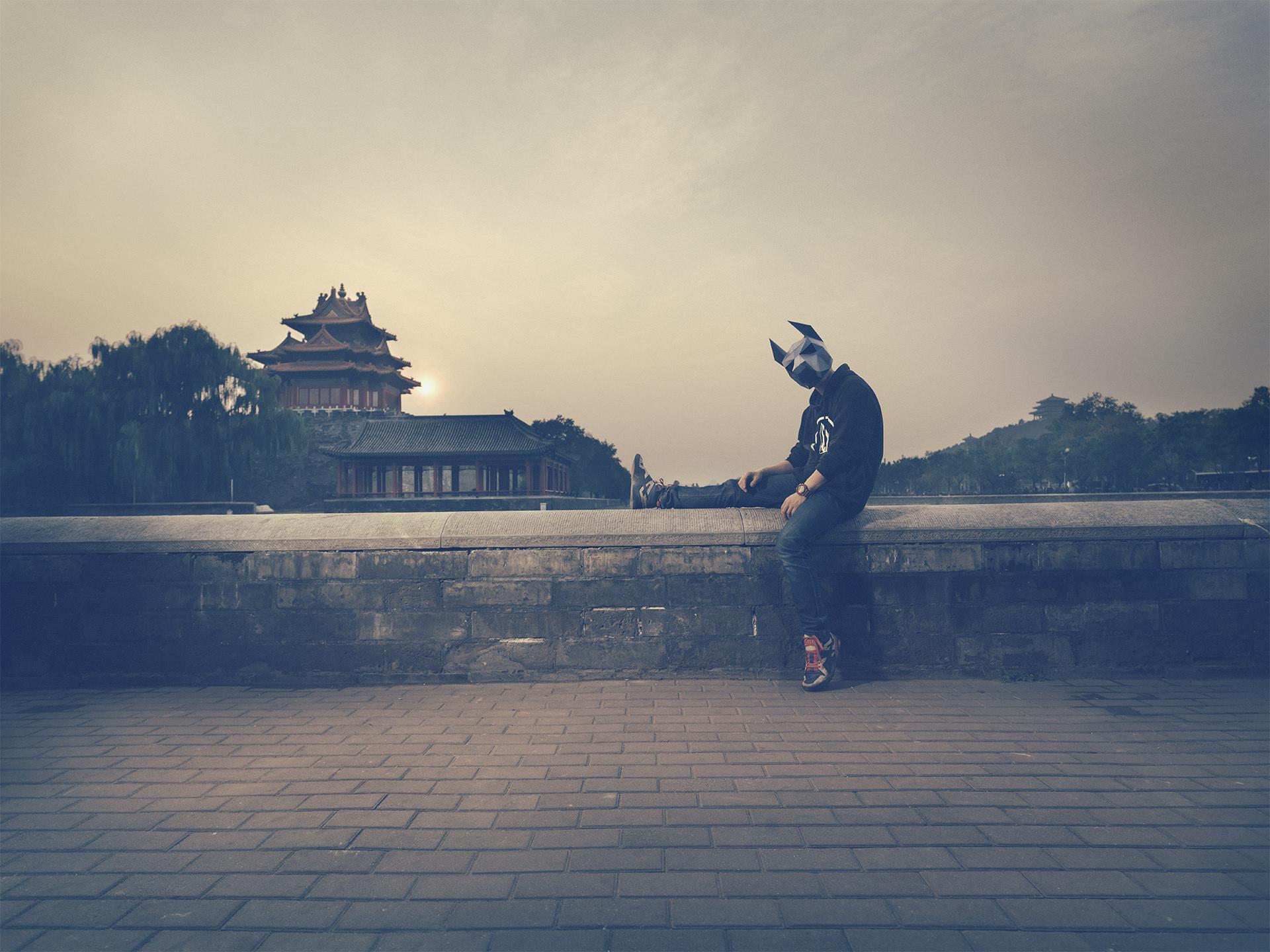 2016, china, beijing, city, urban, mask