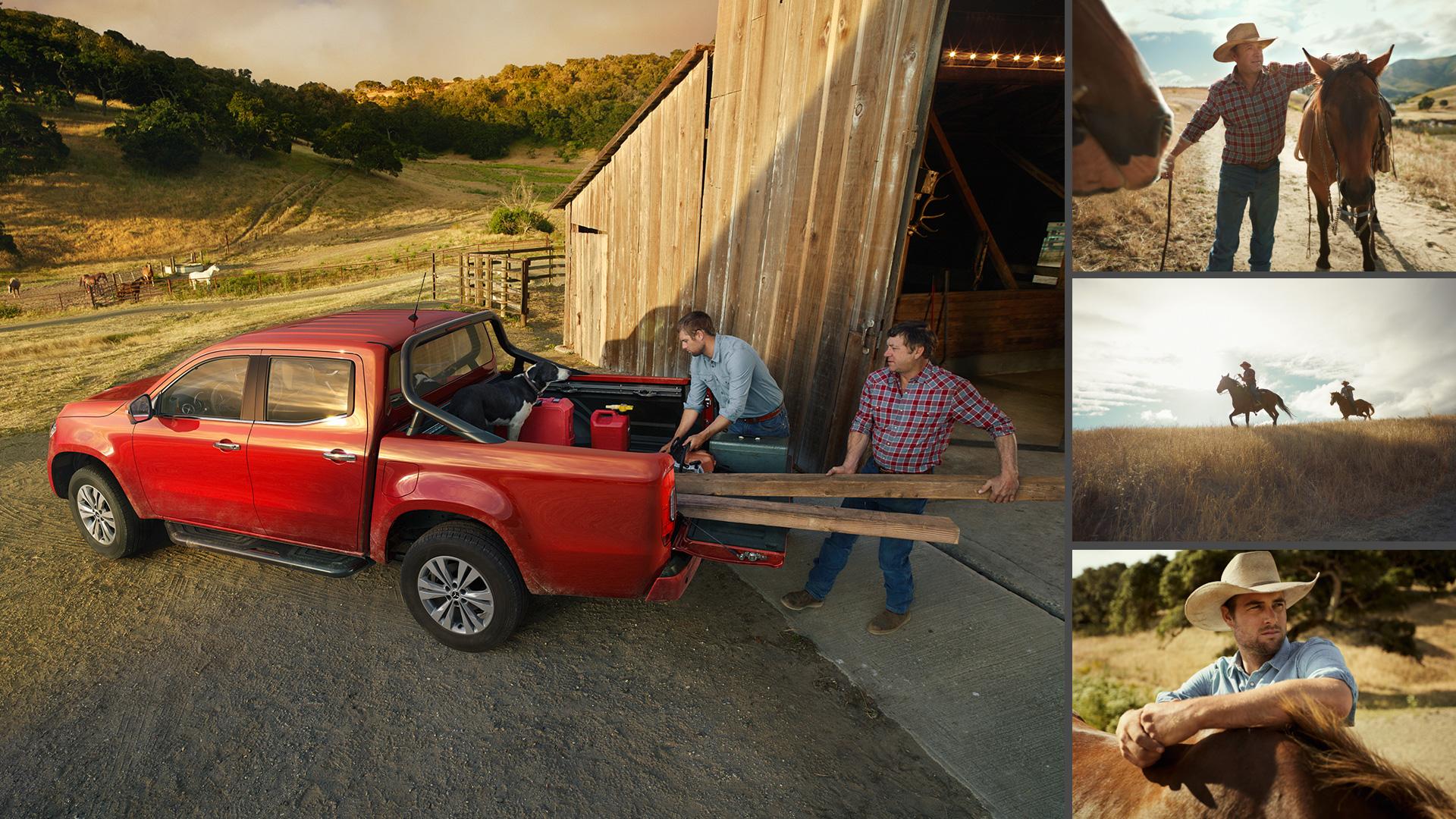 ©ankeluckmann x farmer, Mercedes Benz X-Klasse, Anke Luckmann, ©ankeluckmann, campaign, LLR, kai tietz, www.ankeluckmann.com, recom