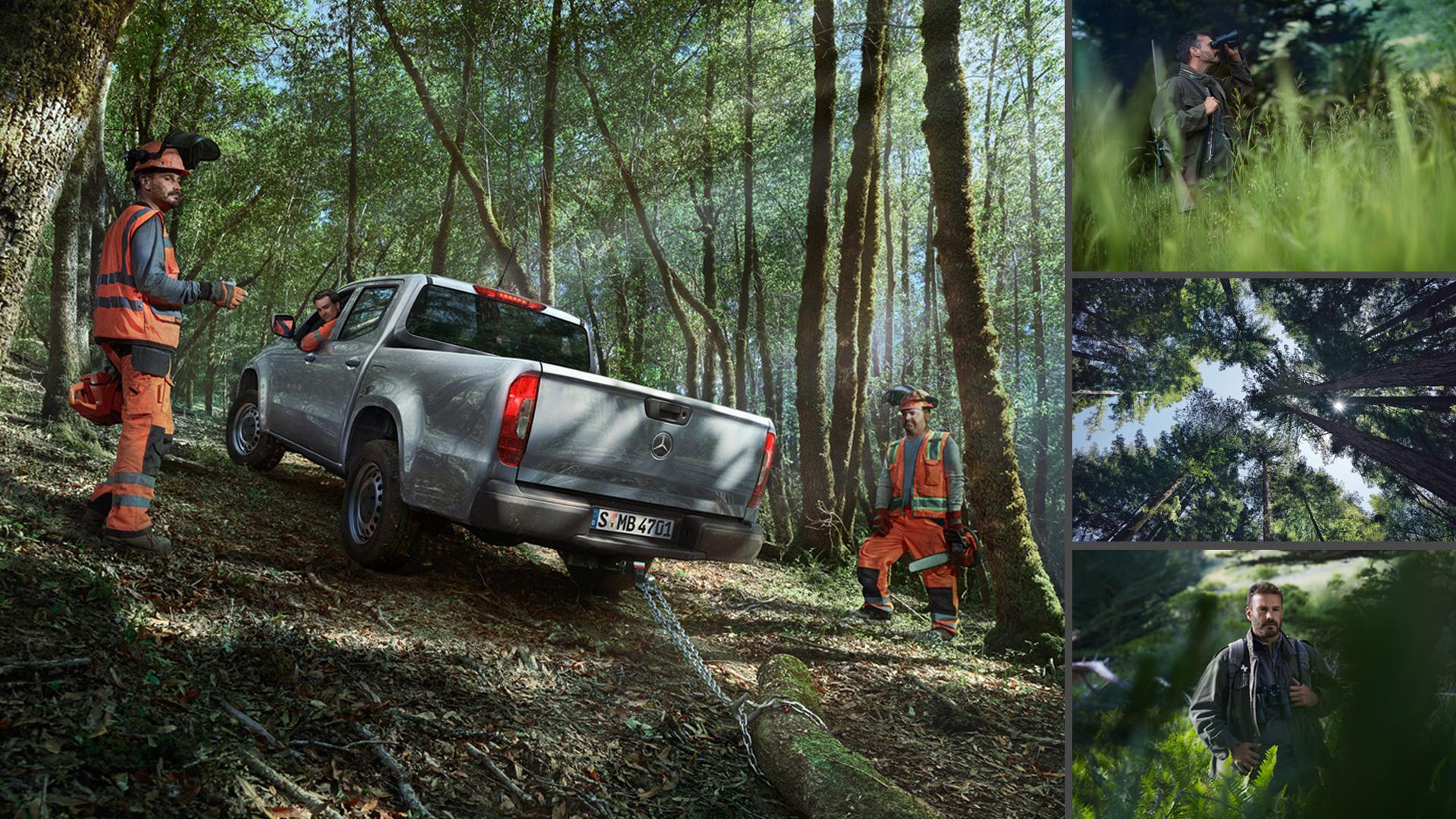 ©ankeluckmann x forest, Mercedes Benz X-Klasse, Anke Luckmann, ©ankeluckmann, campaign, LLR, kai tietz, www.ankeluckmann.com, recom