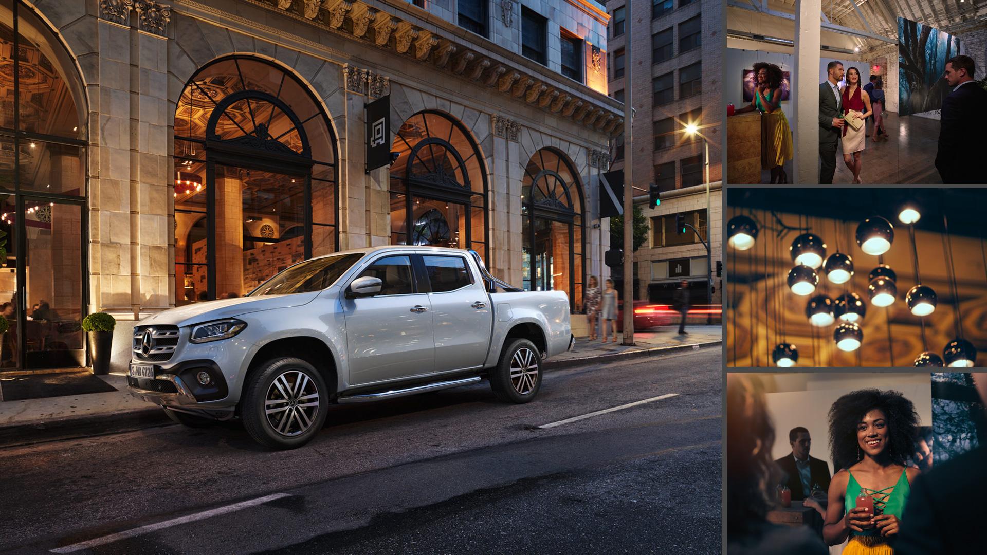 ©ankeluckmann x galerie, Mercedes Benz X-Klasse, Anke Luckmann, ©ankeluckmann, campaign, LLR, kai tietz, www.ankeluckmann.com, recom, night, white,